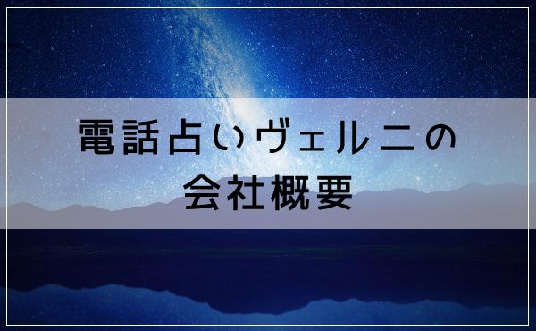 電話占いヴェルニは東京都新宿区に実在!会社概要はこちら
