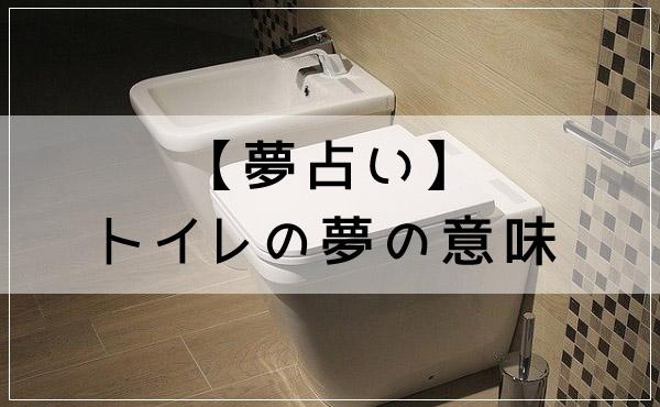 夢占いの定番!トイレの夢の意味