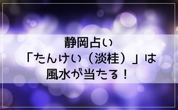 静岡占い「たんけい(淡桂)」は風水が当たる!