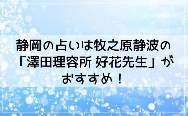静岡の占いは牧之原静波の「澤田理容所 好花先生」がおすすめ!