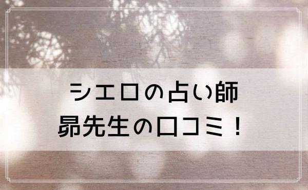シエロの占い師 昴(すばる)先生の口コミ!スピリチュアルカウンセリングが当たると評判!