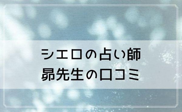 シエロの占い師 昴(すばる)先生の口コミ