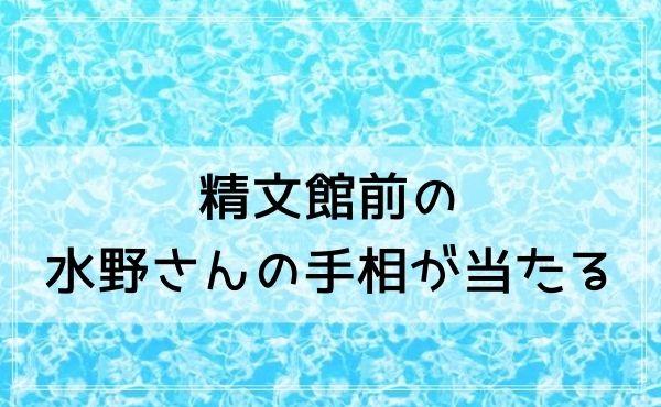 豊橋駅の占いは精文館前の水野さんの手相が当たる!