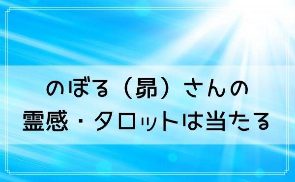 豊橋の占い師 のぼる(昴)さんの霊感・タロットは当たる!
