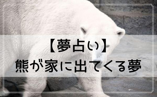 【夢占い】熊が家に出てくる夢