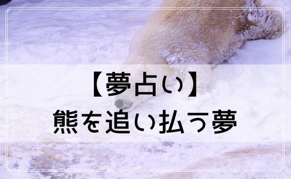【夢占い】熊を追い払う夢