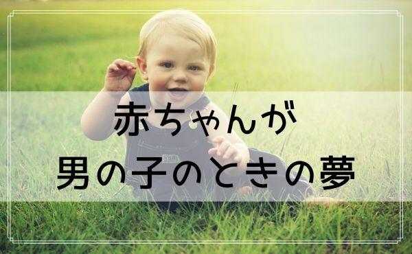 【夢占い】赤ちゃんが男の子のときの夢