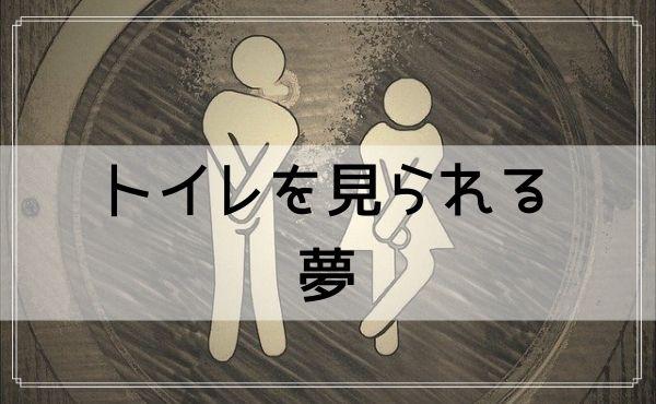 【夢占い】トイレを見られる夢