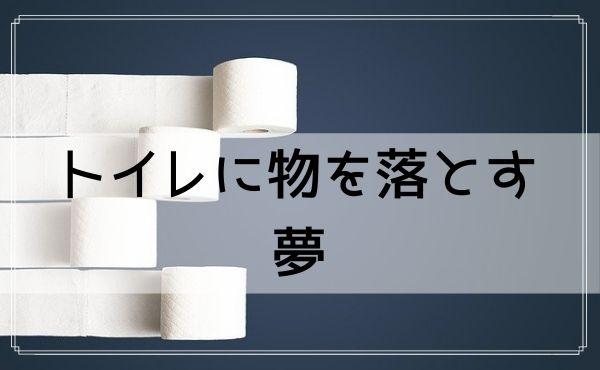 【夢占い】トイレに物を落とす夢