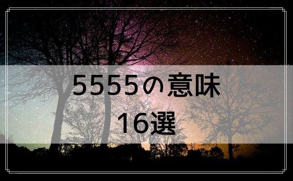 5555のエンジェルナンバーの意味 16選