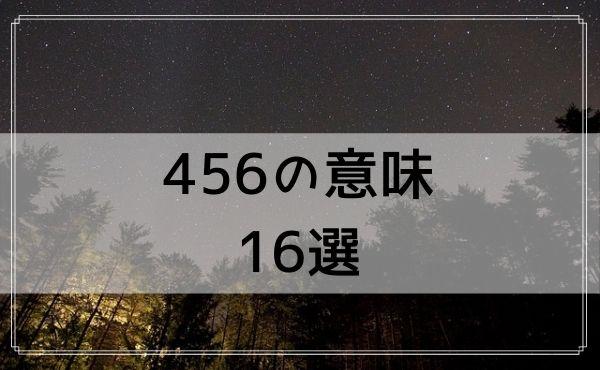 456のエンジェルナンバーの意味 16選