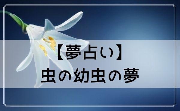【夢占い】虫の幼虫の夢
