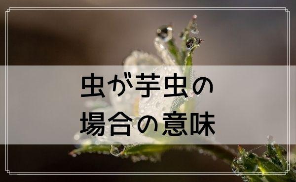 【夢占い】虫が芋虫の場合の意味