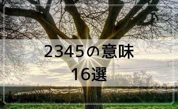 2345のエンジェルナンバーの意味 16選