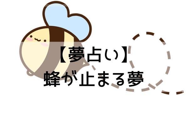 【夢占い】蜂が止まる夢