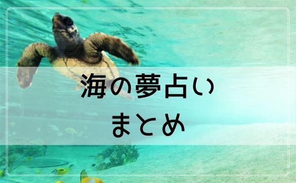 海の夢占いまとめ