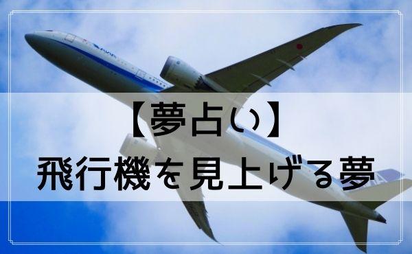 【夢占い】飛行機を見上げる夢