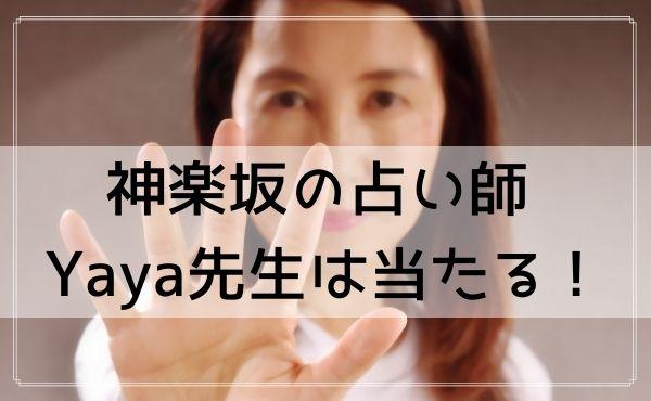 神楽坂の占い師 Yaya(弥々)先生は当たるフォーチュンカウンセラー!
