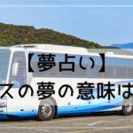 【夢占い】バスの夢はどんな意味?状況や行動別に夢診断